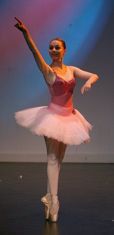 A classical ballet student from Graham School of Dance in Bishop's Stortford, Herts.