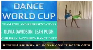 ..our next Dance World Cup team England representatives - Olivia and Leah