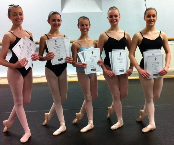 Dance students with their achievments